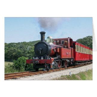 Steam train at Castletown Isle of Man Card