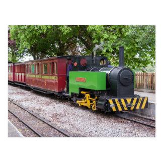 Steam train at Leighton Buzzard Postcard