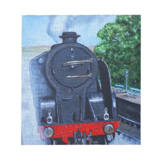 Steam Train at the Station Notepad