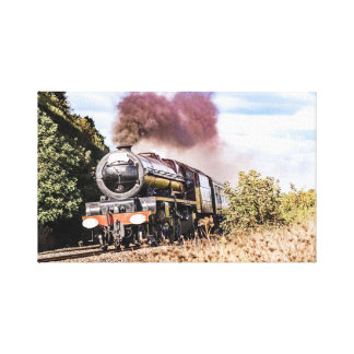 Steam Train Canvas Wall Print