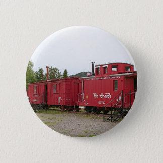 Steam train carriage accommodation, Arizona 2 Inch Round Button
