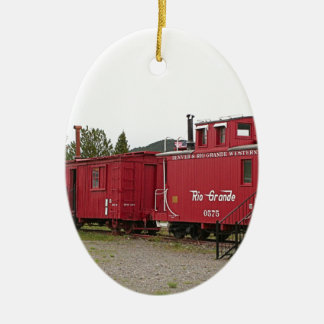 Steam train carriage accommodation, Arizona Ceramic Ornament