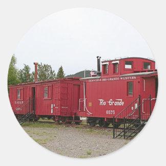 Steam train carriage accommodation, Arizona Classic Round Sticker