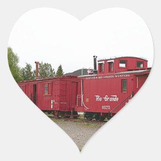 Steam train carriage accommodation, Arizona Heart Sticker