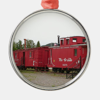 Steam train carriage accommodation, Arizona Metal Ornament