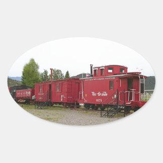 Steam train carriage accommodation, Arizona Oval Sticker