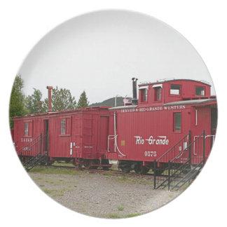 Steam train carriage accommodation, Arizona Plate