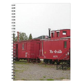 Steam train carriage accommodation, Arizona Spiral Notebook