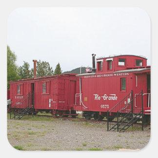 Steam train carriage accommodation, Arizona Square Sticker