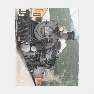 Steam train Colorado 8 Fleece Blanket