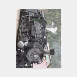 Steam Train engine: Colorado, USA Fleece Blanket