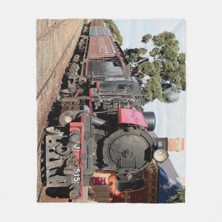 Steam train engine locomotive, Australia Fleece Blanket