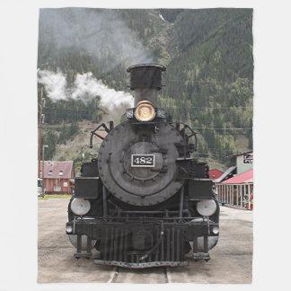 Steam train engine, Silverton, Colorado, USA 4 Fleece Blanket