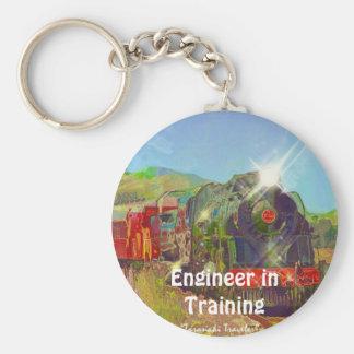 Steam Train Enthusiasts Key-Chains Keychain