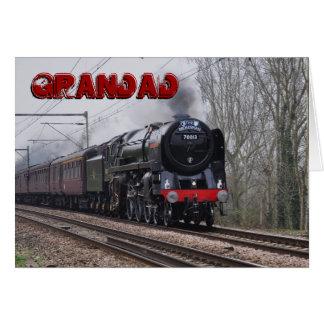 Steam Train Grandad Birthday card
