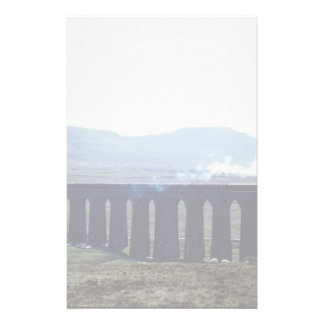 "Steam train ""Green Arrow"" on Ribblehead Viaduct, E Stationery"