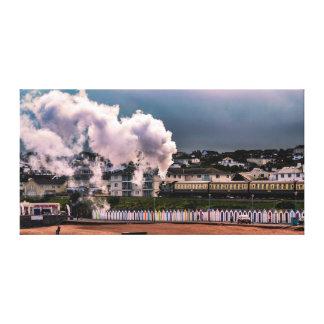 Steam Train in Devon Canvas Wall Print