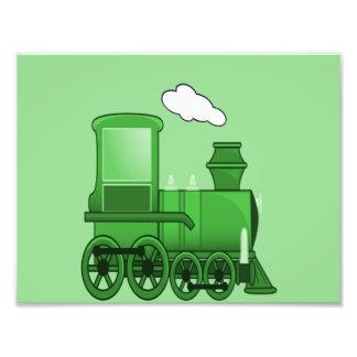 Steam Train Loco Green Art Art Photo