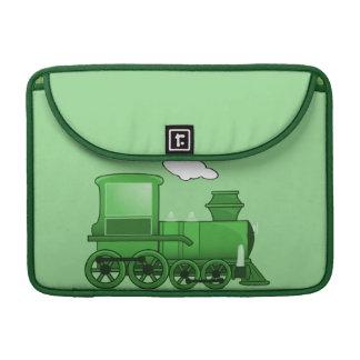 Steam Train Locomotive Green Sleeves For MacBooks