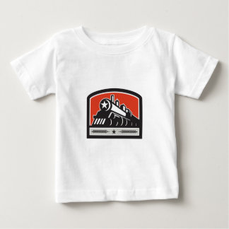 Steam Train Locomotive Star Crest Retro Baby T-Shirt