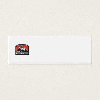 Steam Train Locomotive Star Crest Retro Mini Business Card