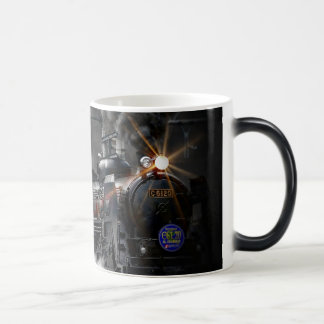 Steam Train Locomotive Transportation Night Magic Mug