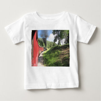 Steam train on Baby Fine Jersey T-Shirt