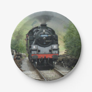 Steam Train Paper Plates 7 Inch Paper Plate