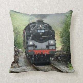 Steam Train Pillow Throw Cushion