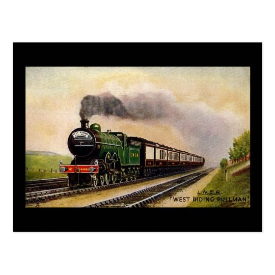 Steam Train Postcard