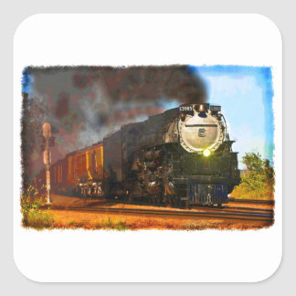 Steam Train Square Sticker