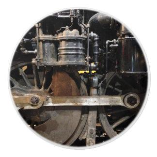 Steam Train Wheels Ceramic Knob
