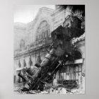 Steam Train Wreck Vintage  Poster