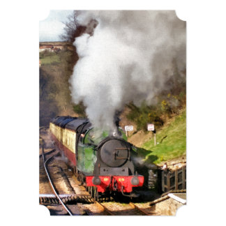 STEAM TRAINS CARD