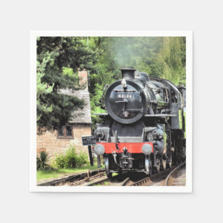 STEAM TRAINS DISPOSABLE NAPKINS
