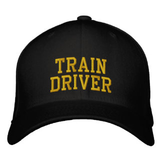 STEAM TRAINS EMBROIDERED HAT
