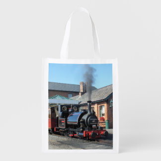 STEAM TRAINS GROCERY BAGS