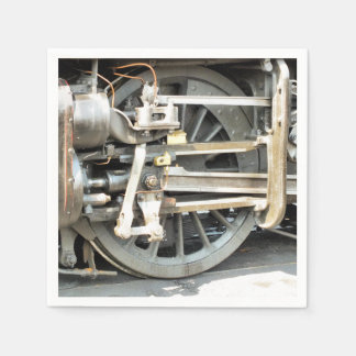 STEAM TRAINS PAPER NAPKIN