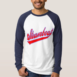 Steamboat Baseball Red White And Blue T-Shirt