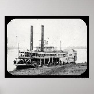 Steamboat Ben Campbell Daguerreotype 1852 Poster