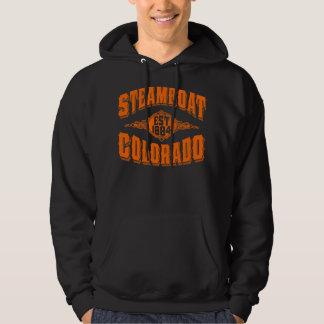 Steamboat Est 1884 Orange Hoodie