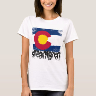 Steamboat Grunge Flag T-Shirt