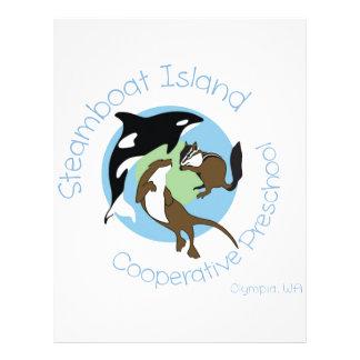 Steamboat Island Coop Preschool Letterhead Design