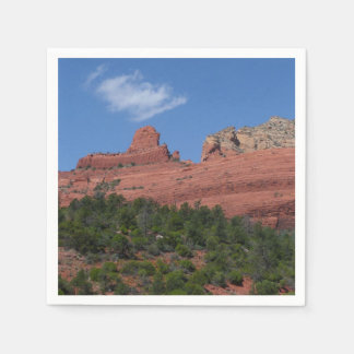 Steamboat Rock in Sedona Arizona Photography Paper Napkin
