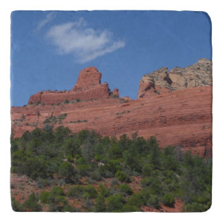 Steamboat Rock in Sedona Arizona Photography Trivet