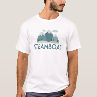 Steamboat Ski T-shirt - Skiing Mountain