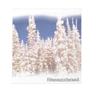 Steamboat Springs frosty tree notepad