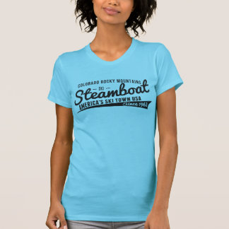 Steamboat Vintage Black T-Shirt