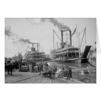 Steamboats at Vicksburg, 1910 Card