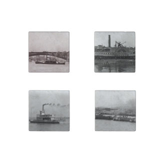 Steamboats Stone Magnets